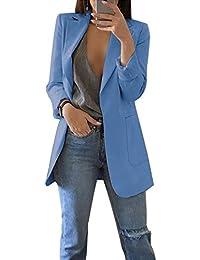 Femme Élégant Blazer à Manches Longues Slim Fit OL Bureau Affaires Veste De  Costume Manteau Cardigan 6aec2b5f502