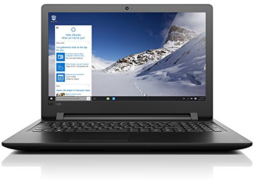 Lenovo ideapad 110 39,62cm (15,6 Zoll HD Glare) Notebook (Intel Pentium N3710 Quad-Core Prozessor, 8GB RAM, 1TB HDD, Intel HD Grafik 405, DVD-Brenner, kein Betriebssystem) schwarz