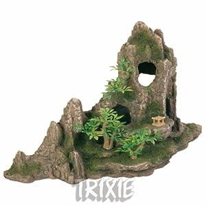 Trixie Rock Formation with Plants Aquarium Decoration
