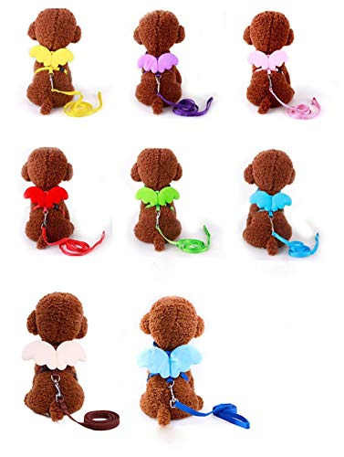 Unicoco Angel Wings Haustier-Atem-brustgurt Soft Comfort Hundegeschirr Weste-hundehalsbänder Gürtel Hund Seil Brust M Code 1 Pc