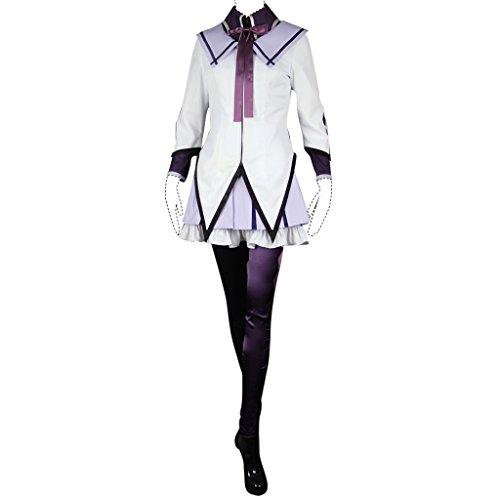 Puella Magi Madoka Magica Cosplay Costume Homura Akemi Costume Set Kid ()