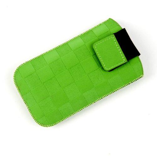 NFE² Etui offen - grün - mit Ausziehlasche und flacher Gürtelschlaufe für Samsung SGH-D780