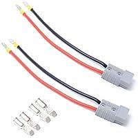 VORCOOL par 50 A 600 V batería conector de desconexión rápida enchufe remolque Winch Conector con 25 cm Cables (gris)