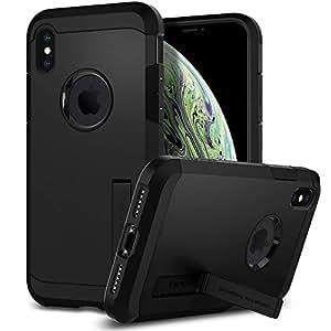 Spigen Tough Armor Cover iPhone XS, Cover iPhone X Cavalletto ed Extreme Heavy Duty Protezione per Apple iPhone XS/iPhone X - Nero