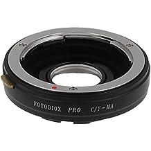 Adaptador de montura de lente Fotodiox Pro, Contax Yashica (c/y) a montura Sony A-soporte para cámaras réflex digitales de cámaras de fotos, CY-Sony Pro (A)