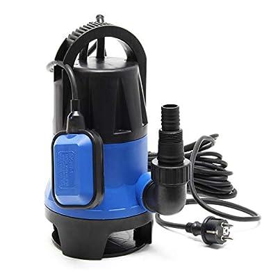 Pompe pour eaux usées 1100W 15000l/h Pompe submersible Jardin Puits Drainage Purge Évacuation