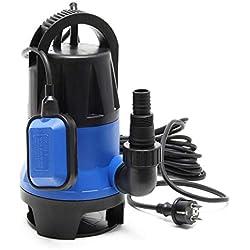 Pompe pour eaux usées 400W 7500l/h Pompe submersible Jardin Puits Drainage Purge Évacuation