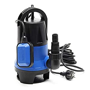 Bomba sumergible aguas sucias 550W 10500 litros/h Jardín Pozos Drenaje Bombeo agua Extracción agua