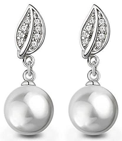 SaySure - 925 Silver Pearl Wedding Earrings Female Sterling Silver