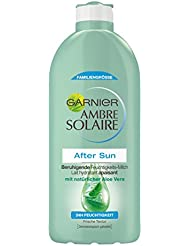 Garnier Ambre Solaire After Sun / Beruhigende Feuchtigkeits-Milch mit natürlichem Aloe Vera (24h Feuchtigkeit - dermatologisch getestet) 1er Pack - 400 ml