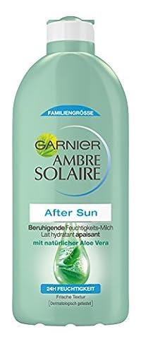 Garnier Ambre Solaire After Sun / Beruhigende Feuchtigkeits-Milch mit natürlichem Aloe Vera (24h Feuchtigkeit - dermatologisch getestet) 1er Pack - 400 (Aloe Vera Bodylotion)