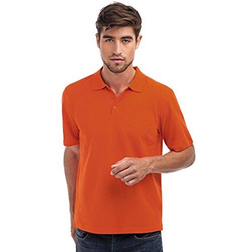 JAMES & NICHOLSON Klassisches Polohemd für Freizeit und Sport Orange