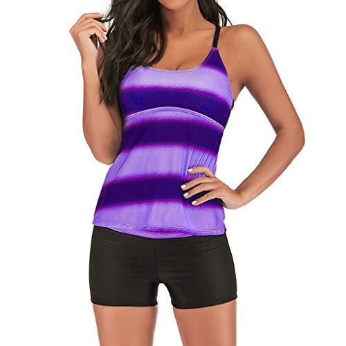 Petticoat Tutu-stil (Binggong Damen Bikini Set Frauen Farbverlauf Tankini Zweiteiler Bademode Figurformend Badeanzüge Bikinioberteil Bikinihosen Beachwear)