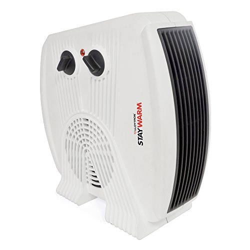 41k9Sgh4ICL. SS500  - STAYWARM 3000w Upright and Flatbed Fan Heater with 2 Heat Settings/Cool Blow Fan/Variable Thermostat/Frost Watch/Overheat Protection/BEAB and GS Approved - F2035WH - White