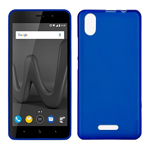 Tboc custodia gel tpu blu per wiko lenny 4 plus - lenny4 plus (5.5 pollici) in silicone ultra sottile e flessibile