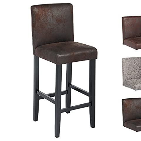 Woltu BH38sz-1 1x Faux Leather Wood Bar Stool with Black Seat Wooden Bar Stool Wood Chair with High Back luxury Padded