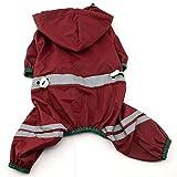 Haustiere Bekleidung Sportbekleidung Gestreift Reflektierend wasserdicht Weiche bequem Sport und Freizeit Dog Raincoat