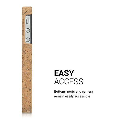 kwmobile Hülle für Apple iPhone 4 / 4S - Backcover Case Handy Schutzhülle Kork - Hardcase Cover Hellbraun .Hellbraun