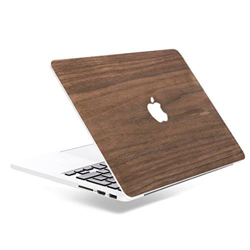 Woodcessories - Skin kompatibel mit MacBook 13 Pro Retina aus Holz - EcoSkin (Walnuss) -