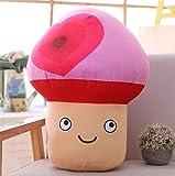 Yuhualiyi123 Peluche Creativa del Fumetto Divertente Fungo Bambola Cuscino della Peluche del Fungo di Verdure Super Carino Espressione del Cuscino del Regalo di Compleanno del Bambino (Color : 3)