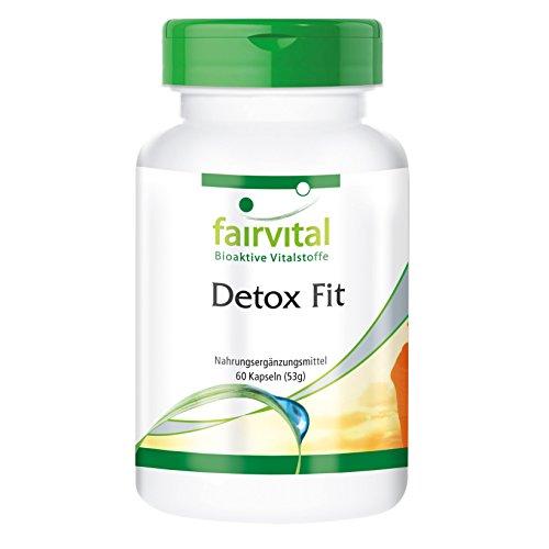 Detox Fit, 60 Kapseln, Detox-Komplex mit Vitaminen & natürlichen Vitalstoffen, mit Silymarin und Chlorella (Die Gesundheit Der Leber Formel)