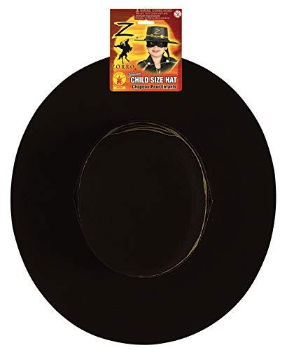 Deluxe Kostüm Zorro - Kinder-Hut Zorro deluxe