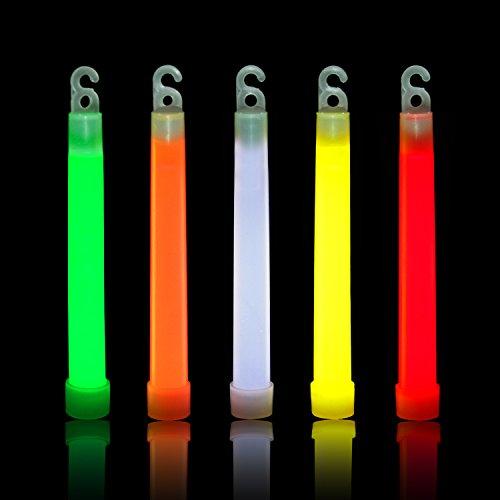 RUSPEPA25 Pack 6 '' Sicherheits-Knicklichter, Industriequalität, Ultra Bright Light Knicklichter für Party, Verschiedene Farben