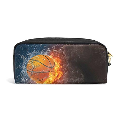 Zzkko fuego agua balón baloncesto Funda piel cremallera