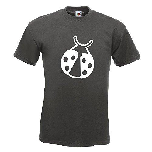 KIWISTAR - Marienkäfer T-Shirt in 15 verschiedenen Farben - Herren Funshirt bedruckt Design Sprüche Spruch Motive Oberteil Baumwolle Print Größe S M L XL XXL Graphit