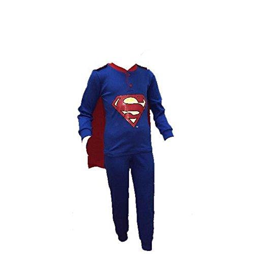 4ea90b9f5c Jungen Schlafanzug Superman mit Umhang Offizieller DC Comics * 23040,  mehrfarbig 7 Jahre