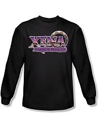 Xena: Warrior Princess - Herren Logo Langarm-Shirt in Schwarz