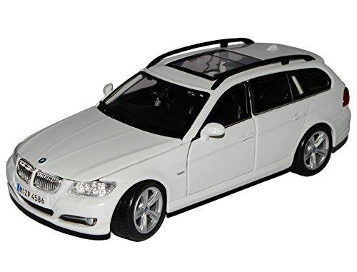 BMW-3er-E91-Touring-Weiss-Kombi-2005-2013-18-22116-124-Bburago-Modell-Auto-mit-oder-ohne-individiuellem-Wunschkennzeichen