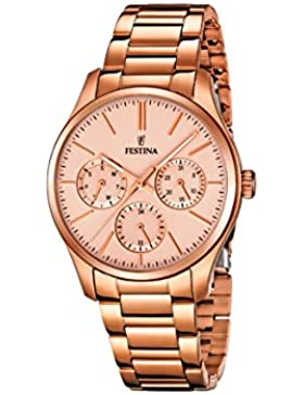 Festina Damen-Armbanduhr Analog Quarz Edelstahl beschichtet F16816/2