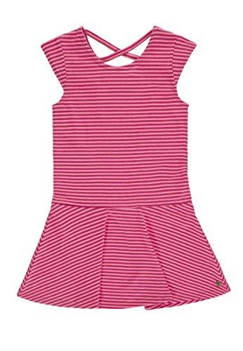 TOM TAILOR Kids Mädchen Dress Striped Kleid, Rosa (Raspberry Sorbet|Pink 2210), 92 (Herstellergröße: 92/98)