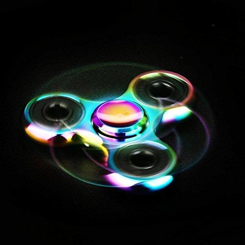 Fidget Spinner Ultra Durable Pure Cobre triángulo de juguete Reductor de estrés Anti Ansiedad para adultos y niños EDC embutidora de la media para niños/adultos - 4