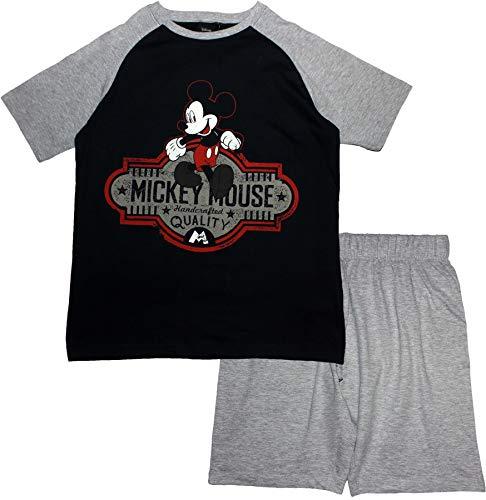 Mickey Mouse, Pyjama Court Homme, Bleu Marine, L