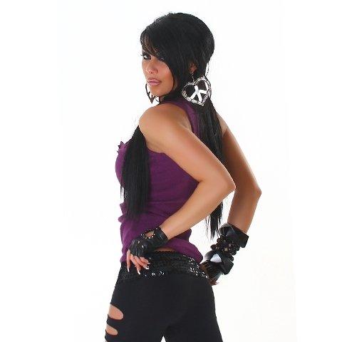 JELA London - Débardeur - Col ras du cou - Sans manche - Femme Violet - Purple - Purple