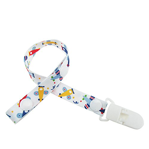 p Schnuller Halter für Jungen und Mädchen Stilvolles Design Schnuller Halter Kinderkrankheiten Halter Länge verstellbar durch Nickerchen (Elmo-mädchen-kleidung)