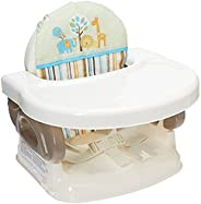 BAYBEE Deluxe Comfort Folding Booster Seat with 3-Point Harness Dishwasher Safe Tray and Built-in Cup Holder (