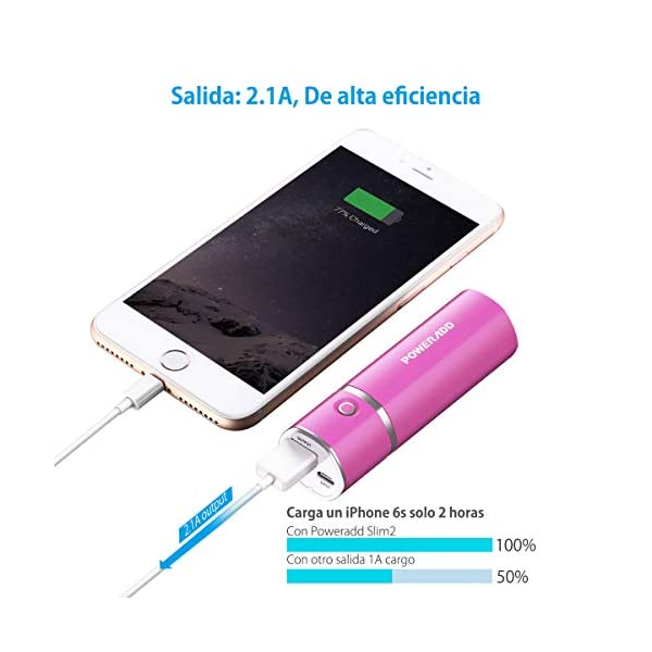 POWERADD Slim2 5000mAh Power Bank Cargador Móvil Portátil Batería Externa para iPhone iPad Samsung Huawei Xiaomi…