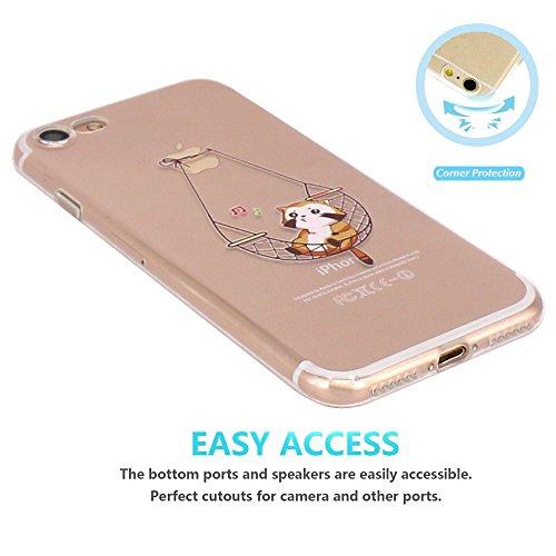 JIAXIUFEN Coque pour Apple iPhone 7 Silicone Étui Housse Transparent Souple TPU Protecteur - Rainbow Color20