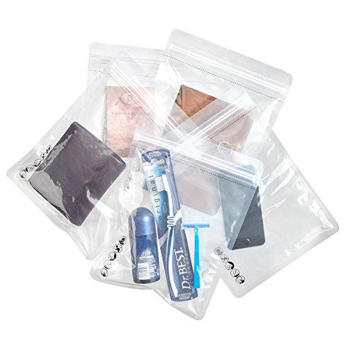 SWISSONA 5 Ziplock Beutel, wasserdicht, geruchsdicht, transparent für Handy, Tablet oder Dokumente | 1-Liter Zip Beutel, Druckverschlussbeutel, Schutzhülle