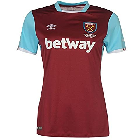 Umbro Women's West Ham Home Short Sleeve Replica Jersey -