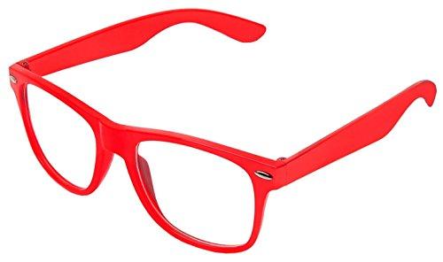Sonnenbrille Nerdbrille retro Art. 4026 - Boolavard TM (Rot Klar)