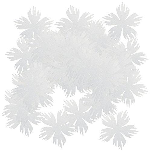 MagiDeal 100er Set Schneeflocke zum Aufbügeln Stoff Konfetti für Party Zimmer Deko - Weiß, 40mm