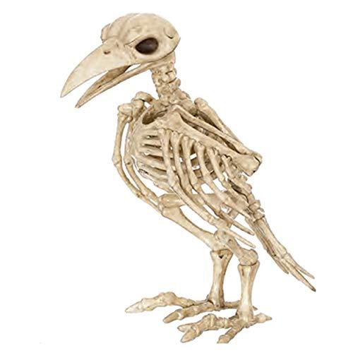 Dailyinshop Skeleton Raven Huesos esqueléticos de Animales de plástico para el Terror Decoración de Halloween, el Color del Hueso