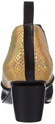 Mehrfarbig Schlupfstiefel P1 Damen gold Kurzschaft Vancouver black qIIAxtgwS