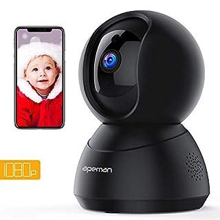 Apeman WLAN Kamera 1080P, Wireless Überwachungskamera,IP Kamera für den Innenbereich, Bewegungsverfolgung Bewegungserkennung mit Alarm, Zwei Wege Audio, Nachtsicht