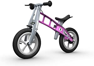 FIRSTBIKE - Bicicleta de Equilibrio con Freno, Modelo Street, Color Rosa (L2005)
