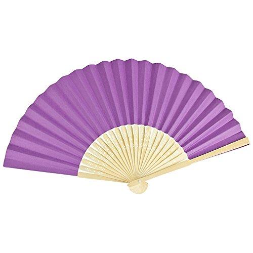 Kostüm Belle Lila - VON LILIENFELD Fächer Bella Papierfächer Bambusstäbe violett